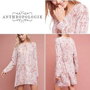 Anthro Lilka Boho Paisley Tunic Chemise Dress Sz S